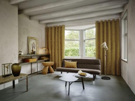 Gietvloeren, gordijnen, vescom, kobe, interieur